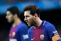 FC Barcelona's Leo Messi (r) and Luis Suarez during La Liga match. March 4,2018. (ALTERPHOTOS/Acero)