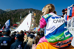 Fans during Flying Hill Team at 3rd day of FIS Ski Jumping World Cup Finals Planica 2012, on March 17, 2012, Planica, Slovenia. (Photo by Matic Klansek Velej / Sportida.com)