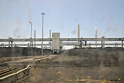 Israel, Hadera, Coal storage and handling conveyor for the coal operated power plant