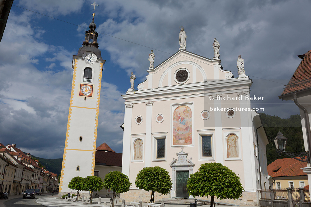The Church of the Immaculate Conception, on 26th June 2018, in Kamnik, Slovenia.