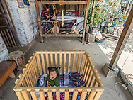 Most of the Maya Weavers have families and work at home so they take care of their babies, clean the house and make food while weaving.  A woman spends an average of four hours a day weaving and the rest of the time attending her home.