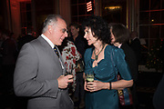 ANDREA CHIARA, RUTH PADEL, Literary Review Christmas party and Bad SEx Awards. In and Out club. St. James Sq. London. 3 December 2018