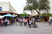 Tourists Shopping At Olvera Street In Downtown Los Angeles