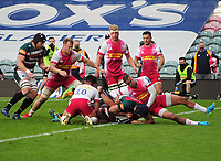 Rugby Union - 2020 / 2021 Gallagher Premiership - Round 19 - Leicester Tigers vs Harlequins - Welford Road<br /> <br /> Ben Youngs of Leicester gets his push over try<br /> <br /> CreditCOLORSPORT/ANDREW COWIE