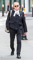 April 17, 2018 - London, London, United Kingdom - Gavin Millar QC arrives at the Rolls Building.He is representing the BBC in the case brought by Sir Cliff Richard..Sir Cliff Richard Court Case, London. High Court. (Credit Image: © Mark Thomas/i-Images via ZUMA Press)