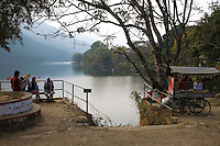 Phewa Tal or Lake Fewa is the second largest lake in Nepal. This large lake is adjacent to the town of Pokhara, a popular trekkers' hangout. On a clear day, majestic views of the Annapurna Range of the Himalayas reflects on the lake. The best way to take in Fewa Lake is by rowboat.
