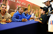 DESCRIZIONE : Championnat de France Media Day Palais des congres Ligue Nationale de Basket <br /> GIOCATORE : Andrew ALBICY Louis Labeyrie (Paris-Levallois) <br /> SQUADRA : <br /> EVENTO : lnb<br /> GARA : <br /> DATA : 20/09/2012<br /> CATEGORIA : Basketball Homme LNB<br /> SPORT : Basketball<br /> AUTORE : JF Molliere<br /> Galleria : France Basket 2012-2013 Reportage<br /> Fotonotizia : LNB Basket Pro A<br /> Predefinita :
