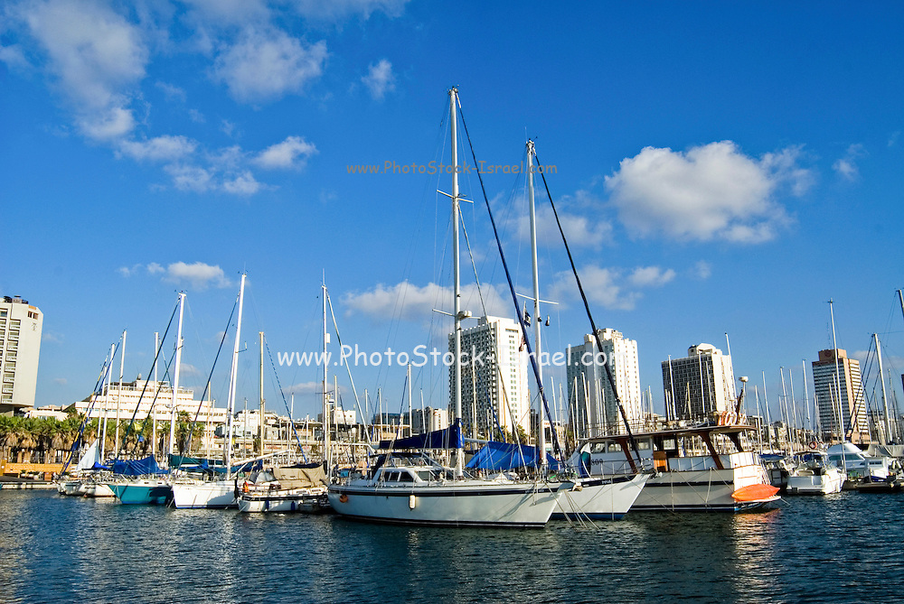 Israel, Tel Aviv. The Tel Aviv yacht club
