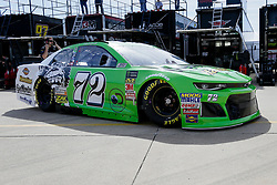 November 2, 2018 - Fort Worth, TX, U.S. - FORT WORTH, TX - NOVEMBER 02: Monster Energy NASCAR Cup Series driver Corey LaJoie (72) drives through the garage area during practice for the AAA Texas 500 on November 02, 2018 at the Texas Motor Speedway in Fort Worth, Texas. (Photo by Matthew Pearce/Icon Sportswire) (Credit Image: © Matthew Pearce/Icon SMI via ZUMA Press)