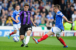 Tom Lockyer (ENG) of Bristol Rovers is challenged by Rhys McCabe (SCO) of Portsmouth - Photo mandatory by-line: Rogan Thomson/JMP - 07966 386802 - 19/04/2014 - SPORT - FOOTBALL - Fratton Park, Portsmouth - Portsmouth FC v Bristol Rovers - Sky Bet Football League 2.