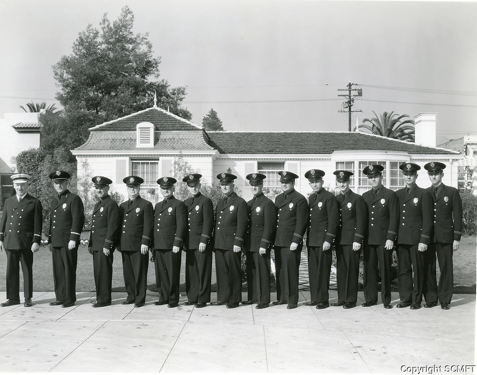 1931 Studio police force at William Fox Studios in Hollywood