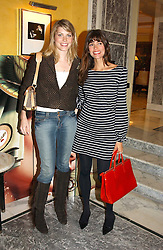 Left to right, MEREDITH OSTROM and model LISA B at the launch of MAC's High Tea collection with leading British designers held at The Berkeley Hotel, London on 17th January 2005.  MAC has collabroated with The Berkeley's Pret-a-Portea, which adds a creative twist to th classic elements of the English afternoon tea with cakes and pastries inspired by fashion designs.<br /><br />NON EXCLUSIVE - WORLD RIGHTS