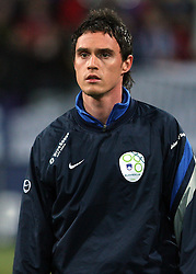 Ales Mejac of Slovenia at the 8th day qualification game of 2010 FIFA WORLD CUP SOUTH AFRICA in Group 3 between Slovenia and Czech Republic at Stadion Ljudski vrt, on March 28, 2008, in Maribor, Slovenia. Slovenia vs Czech Republic 0 : 0. (Photo by Vid Ponikvar / Sportida)
