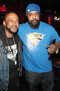 New York, NY-June 13 : (L-R) Hip Hop Artist Super Natural and Hip Hop Recording Artist Sean Price attend The ROCK THE BELLS FESTIVAL SERIES Press Conference and Launch Party produced in association with Boost Mobile and Guerrilla Union powered by Blackberry held at the Santos Party House on June 14, 2012 in New York City. Established in 2000, Guerilla Union has developed into one of the premiere core urban lifestyle brands in the U.S., manifesting itself in many forms including music, events, media and fashion. Guerilla Union's mission is to create experiential platforms, unique content and provide services that develop artists and their communities. (Photo by Terrence Jennings).(Photo by Terrence Jennings/PictureGroup)
