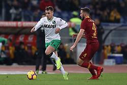 December 26, 2018 - Rome, Italy - As Roma v Us Sassuolo - Serie A.Pol Lirola of Sassuolo at Olimpico Stadium in Rome, Italy on December 26, 2018. (Credit Image: © Matteo Ciambelli/NurPhoto via ZUMA Press)