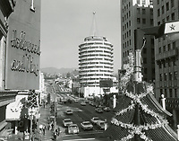 1963 Capitol Records on Vine St. at Christmas time