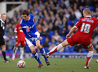 Photo: Ashley Pickering.<br />Ipswich Town v Southend United. Coca Cola Championship. 10/03/2007.<br />George O'Callaghan of Ipswich (L) gets away from Freddy Eastwood of Southend