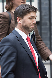 Downing Street,  London, June 27th 2015. Work and Pensions Secretary Stephen Crabb leaves the first post-Brexit cabinet meeting at 10 Downing Street.