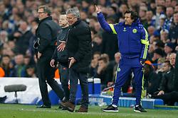 Chelsea Manager Jose Mourinho looks frustrated - Photo mandatory by-line: Rogan Thomson/JMP - 07966 386802 - 11/03/2015 - SPORT - FOOTBALL - London, England - Stamford Bridge - Chelsea v Paris Saint-Germain - UEFA Champions League Round of 16 Second Leg.