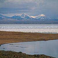 Pack ice fills Eureka Sound, near Eureka, on Canada's Ellesmere Island.