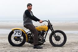 Ted Kramer with his 1929 Harley-Davidson JD racer at TROG (The Race Of Gentlemen). Wildwood, NJ. USA. Sunday June 10, 2018. Photography ©2018 Michael Lichter.