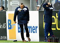 Fotball Herrer Tippeligaen Eliteserien 2015<br /> Marienlyst stadion Gamle Gress 26.4.2015<br /> <br /> Strømsgodset vs Sandefjord<br /> <br /> Resultat 3 - 2<br /> <br /> Foto: Robert Christensen Digitalsport<br /> <br /> Sandefjord trener Lars Bohinen ikke fornøyd med tap