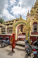 Monk on the streets of Pyin Oo Lyin, Burma.