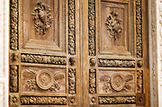 Door detail, Basilica di Santa Croce, Florence, Tuscany, Italy