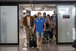 © Licensed to London News Pictures.  30/06/2021. Palma de Mallorca, Spain. Passenger are seen arriving at Palma Airport in Mallorca as Balearic Islands are on the UK 'green list' from 4am, today. Photo credit: Marcin Nowak/LNP