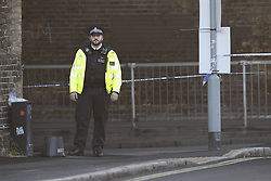 © Licensed to London News Pictures. 24/05/2021. London, UK.  The scene at Consort Road in Peckham south London after Black Lives activist Sasha Johnson was shot. Ms Johnson remains in a critical condition in hospital after the shooting which happened at 3am on Sunday morning. Photo credit: Peter Macdiarmid/LNP