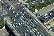 Israel, Tel Aviv. Aerial View of HaShalom Intersection