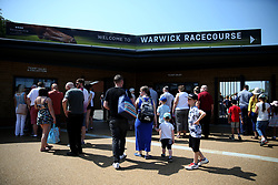 General view of family's arriving during Kids Carnival Day of The Qatar Airways May Racing Carnival at Warwick Racecourse.