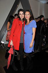 Left to right, LAUREN STEVENTON and JESSICA BOWEN at a party to launch pop-up store Oxygen Boutique, 33 Duke of York Square, London SW3 on 8th February 2011.
