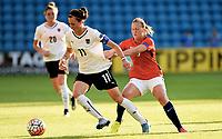 Fotball , 2. juni 2016 Euro-qual. kvinner<br /> Norge - Østerrike<br />  European Womens qual.<br /> Norway - Austria<br /> Viktoria Schnaderbeck ,  Østerrike<br /> Kristine Minde , Norge