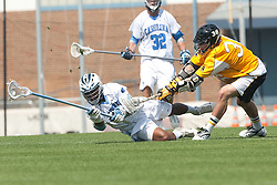 09 May 2009: North Carolina Tar Heels defenseman Milton Lyles (29) during a 15-13 win over the University of Maryland - Baltimore County Retrievers on Fetzer Field in Chapel Hill, NC.