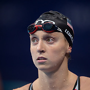 TOKYO, JAPAN - JULY 27: Katie Ledecky of the United States during the Swimming Finals at the Tokyo Aquatic Centre during the Tokyo 2020 Summer Olympic Games on July 27, 2021 in Tokyo, Japan. (Photo by Tim Clayton/Corbis via Getty Images)