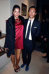 VISCOUNT MACMILLAN and ASTRID MUNOZ at a party at shoe store Sergio Rossi, 207 Sloane Street, London on 4th April 2007.<br /><br />NON EXCLUSIVE - WORLD RIGHTS