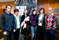 "Family Cerar: Zdenka Cerar, Vesna Cerar with her daughter Neza, Masa Zugelj, her mother Alenka Cerar Zugelj and Miro Cerar (son Miro is missing) at presentation of a new book of one of the best Slovenian gymnast Miro Cerar named ""Miroslav Cerar in njegov cas - Miroslav Cerar and his time"" at his 70 years anniversary, on October 30, 2009, in Hotel Mons, Ljubljana, Slovenia.   (Photo by Vid Ponikvar / Sportida)"