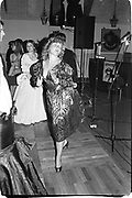Camilla Gibbs dancing at Oyster ball, Whitbread Brewery. 1983© Copyright Photograph by Dafydd Jones 66 Stockwell Park Rd. London SW9 0DA Tel 020 7733 0108 www.dafjones.com<br />