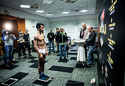 Bien Jerome Aquino of Italy during Official weighting ceremony one day before Dejan Zavec Boxing Gala event in Ljubljana, on March 10, 2017 in Grand Hotel Union, Ljubljana, Slovenia. Photo by Vid Ponikvar / Sportida