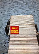 Polańczyk. 2012-09-16. Prywatny pomost nad Jeziorem Solińskim