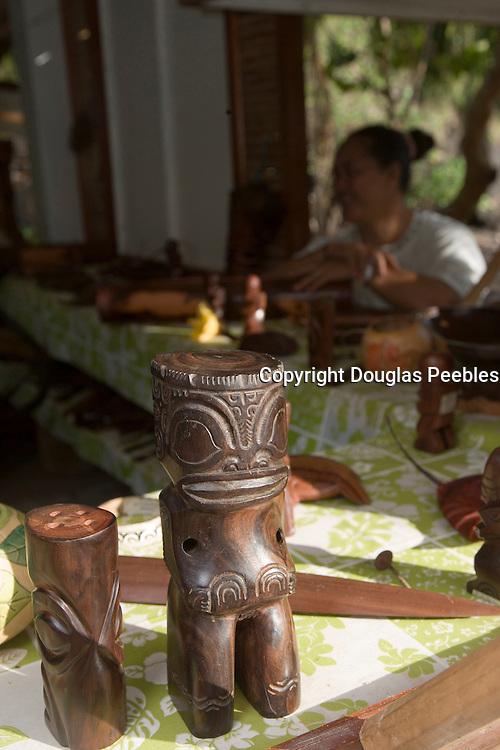 Crafts store, Hokatu, Ua Huka, Marquesas Islands, French Polynesia<br />