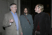 Colin Dancer, Glenn Max and Jude Law, Potential and Ground. 1 Chiltern St. London. 7 February 2007.  -DO NOT ARCHIVE-© Copyright Photograph by Dafydd Jones. 248 Clapham Rd. London SW9 0PZ. Tel 0207 820 0771. www.dafjones.com.