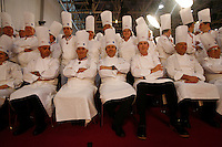 Chefs group photo  at the Bocuse d'Or..Owen Franken for the NY Times..January 27, 2009