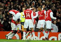 Photo: Ed Godden.<br /> Arsenal v Hamburg. UEFA Champions League, Group G. 21/11/2006. Arsenal's Julio Baptista (2nd from the right) celebrates his goal.