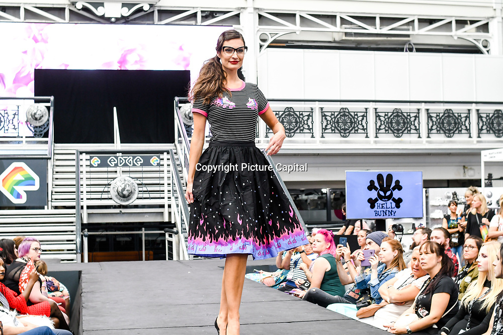 London, UK. 1st September, 2018. Hundreds of stalls at the LondonEdge 2018   Authentic Lifestyle Fashion Trade Shows and exhibition and the first La Vegas show catwalk at Business Design Centre.