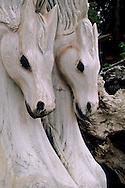 Redwood Burl & wood art carvings Cliff Short's Studio, Felton, Santa Cruz Mountains, California