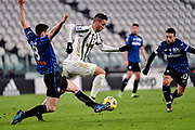Foto Marco Alpozzi/LaPresse <br /> 16 Dicembre 2020 Torino, Italia <br /> sport calcio <br /> Juventus Vs Atalanta - Campionato di calcio Serie A TIM 2020/2021 - Allianz Stadium<br /> Nella foto:    Robin Gosens (Atalanta B.C.); Rodrigo Bentancur (Juventus F.C.);Papu Gomez (Atalanta B.C.); <br /> <br /> <br /> Photo Marco Alpozzi/LaPresse <br /> December 16, 2020 Turin, Italy <br /> sport soccer <br /> Juventus Vs Atalanta - Italian Football Championship League A TIM 2020/2021 - Allianz Stadium<br /> In the pic:    Robin Gosens (Atalanta B.C.); Rodrigo Bentancur (Juventus F.C.);Papu Gomez (Atalanta B.C.);