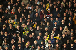 Derby County fans wave plastic snakes at Stoke City manager Gary Rowett during the Sky Bet Championship match at the bet365 Stadium, Stoke.