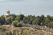 Hundreds of Mexican cowboys attend mass marking Three Kings Day and the end of the annual Cabalgata de Cristo Rey pilgrimage January 6, 2017 in Guanajuato, Mexico. Thousands of Mexican cowboys and horse take part in the three-day ride to the mountaintop shrine of Cristo Rey.